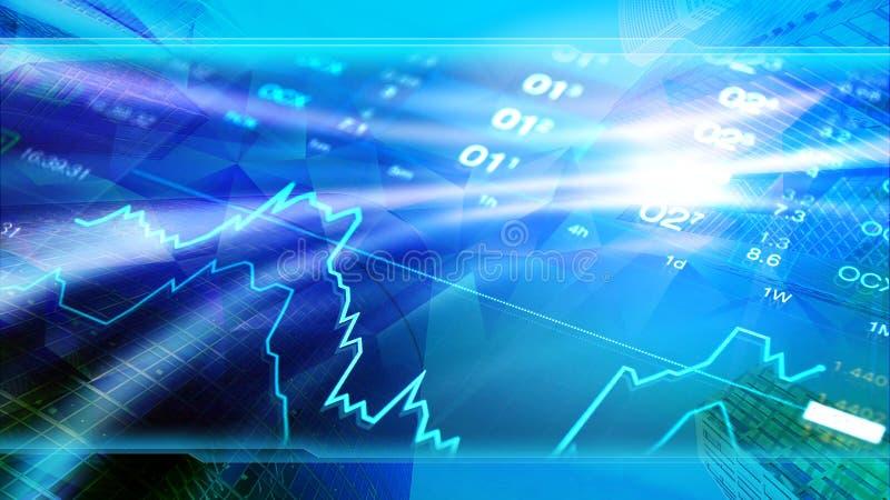 De wereldeconomie, financiën, zaken, investeert behang vector illustratie