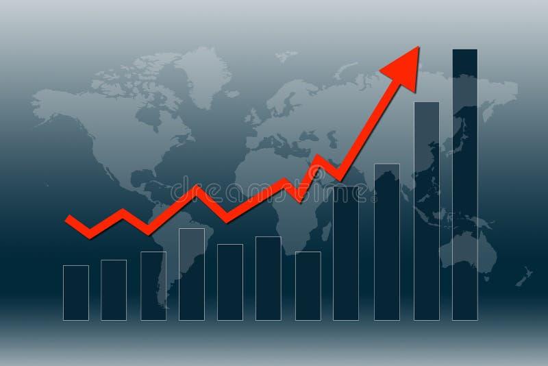 De wereldeconomie krijgt terug stock illustratie