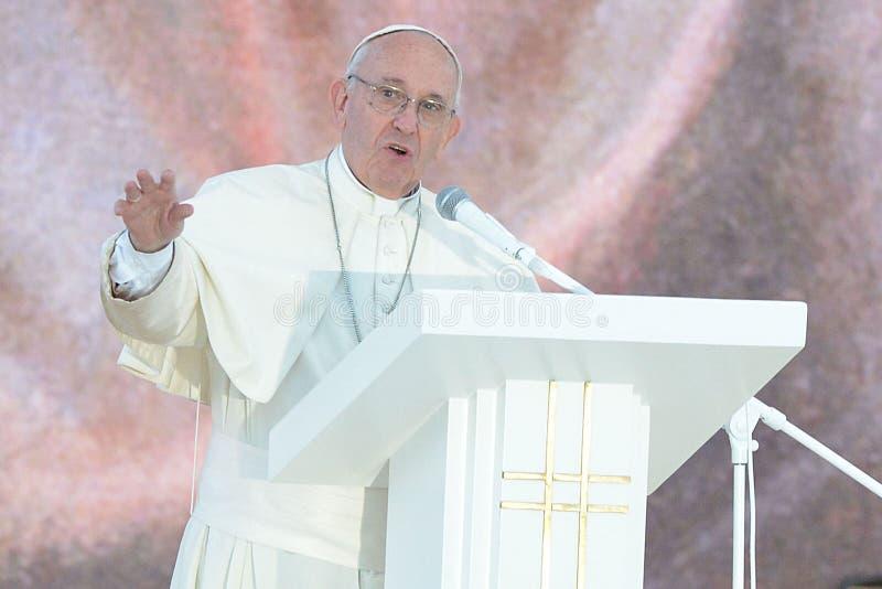 De wereldjeugd Dag 2016 - paus Francis stock afbeeldingen
