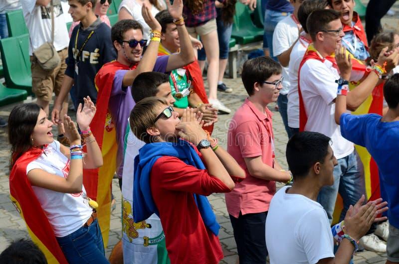 De wereldjeugd Dag 2016 in Trzebnica stock afbeelding