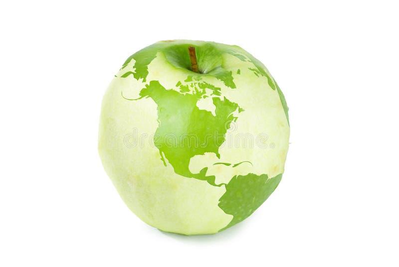 De wereldkaart van de appel royalty-vrije stock foto's