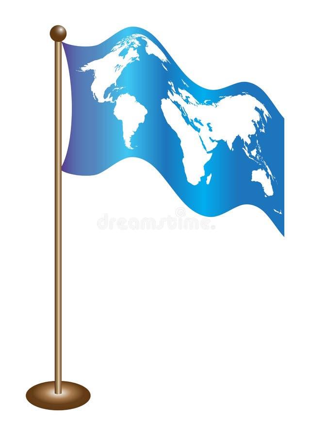 De wereldkaart van de vlag stock illustratie
