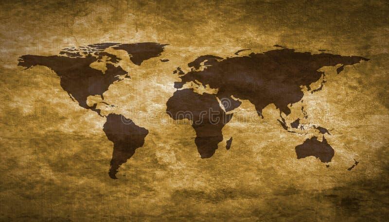 De wereldkaart van Grunge stock afbeelding