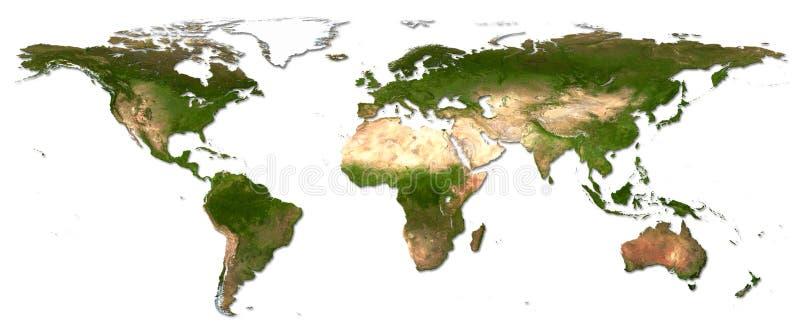De wereldkaart van het detail stock foto's