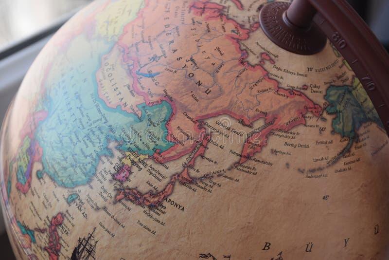 De wereldkaart van Japan royalty-vrije stock afbeelding