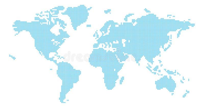 De wereldkaart van vierkanten