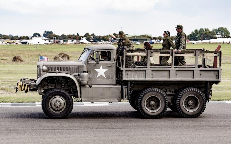 De Wereldoorlog II vijfenzeventigste herdenkingsparade royalty-vrije stock afbeelding