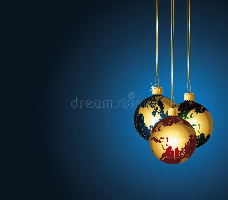De wereldornamenten van Kerstmis. stock illustratie
