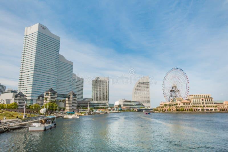 De wereldpretpark van Yokohamacosmo in Yokohama-Baai royalty-vrije stock afbeelding