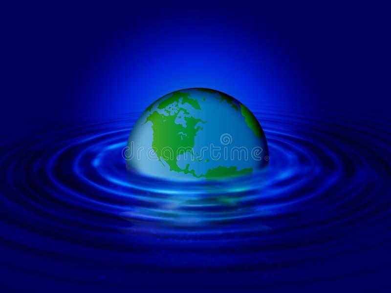 De wereldrimpeling van het water royalty-vrije illustratie