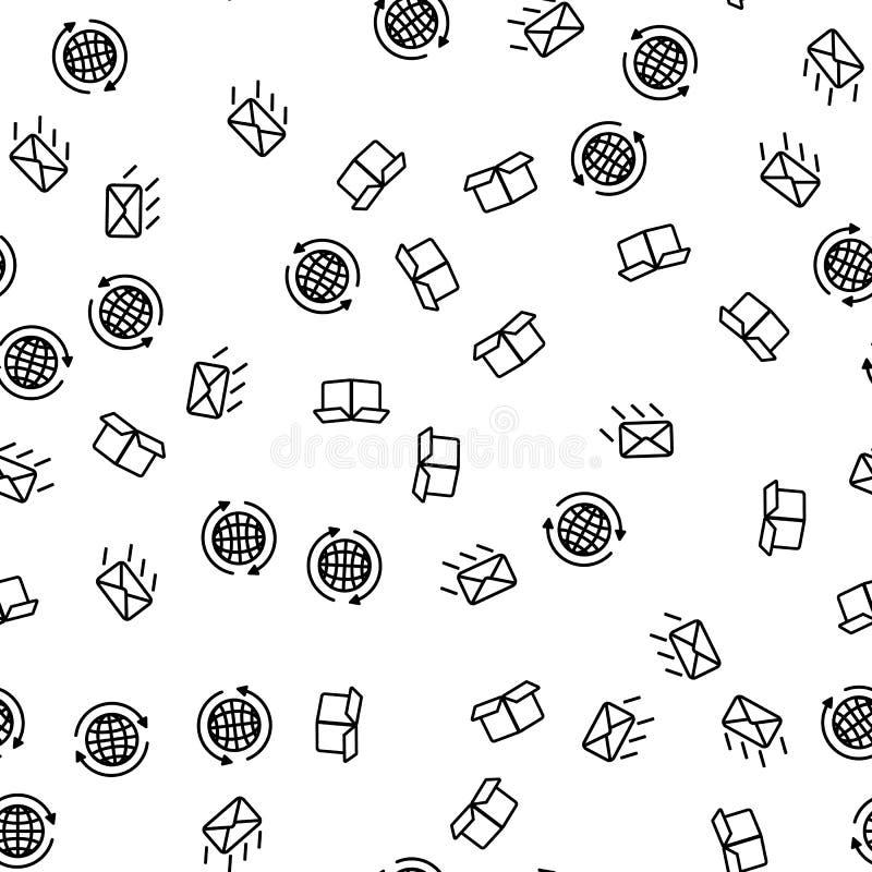 De wereldwijd Uitdrukkelijke Vector van het Leverings Naadloze Patroon stock illustratie