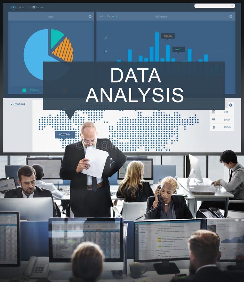De Wereldwijde handel Grafisch Concept van bedrijfsanalysegegevens stock foto's