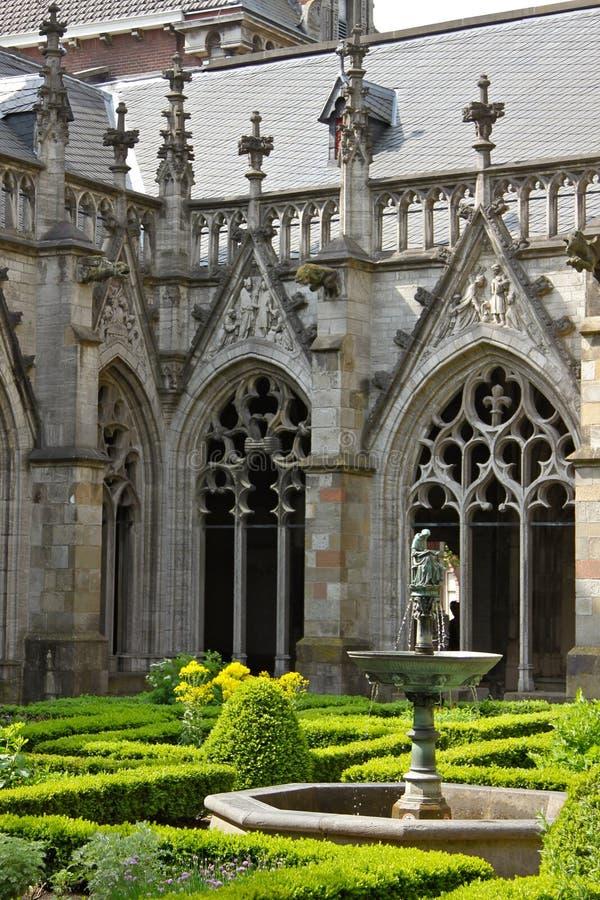 De Werf van de kathedraal in Utrecht stock foto's