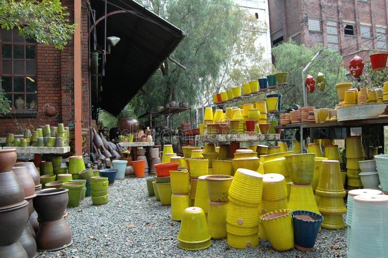 De werf van de pottenbakker stock fotografie