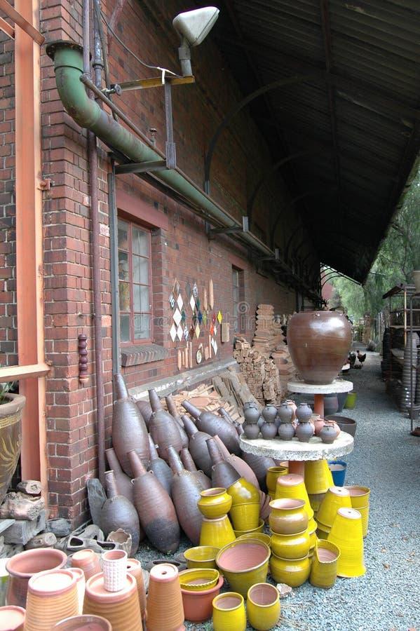 De werf van de pottenbakker stock afbeelding