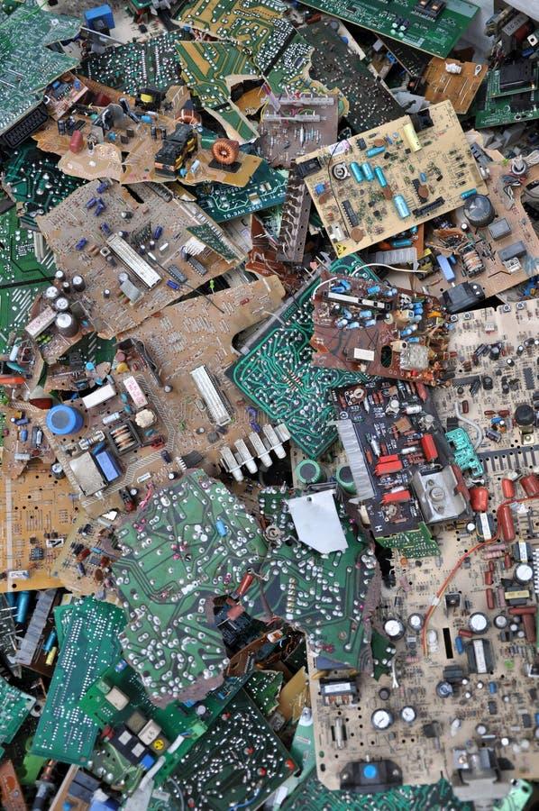 De werf van de stortplaats stock fotografie