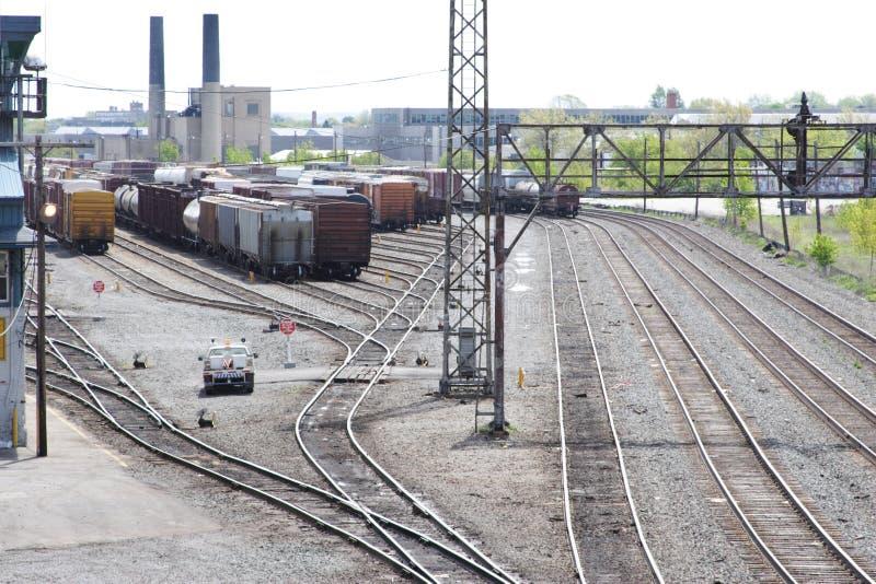 De Werf van de Voorraad van de spoorweg royalty-vrije stock afbeelding