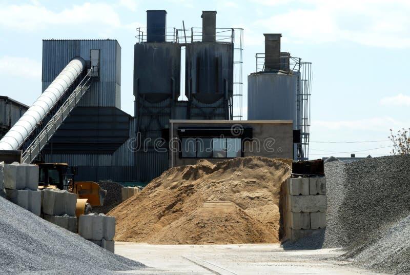 De Werf van het cement stock afbeeldingen