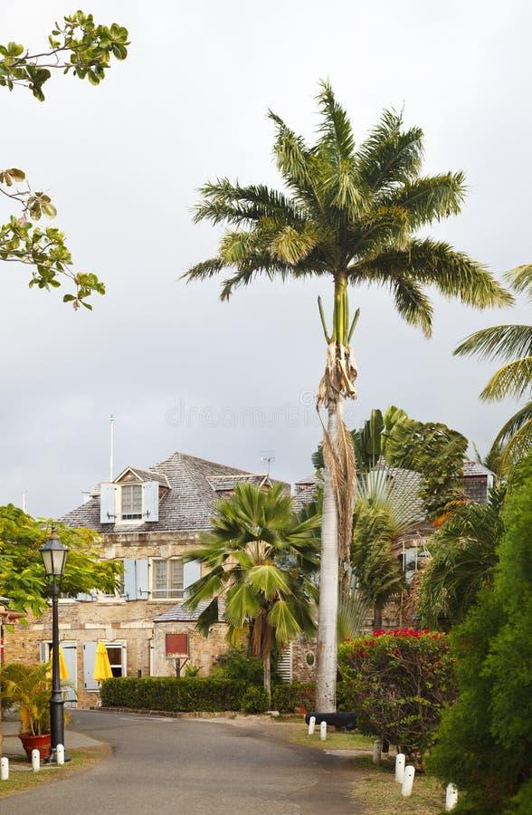 De Werf van Nelson ` s, Antigua stock foto's