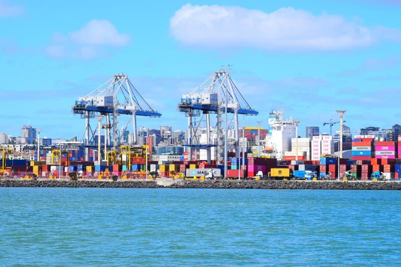 De Werfcontainer van Auckland royalty-vrije stock foto