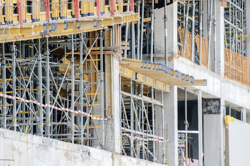 De werken aangaande het gebouw stock afbeelding