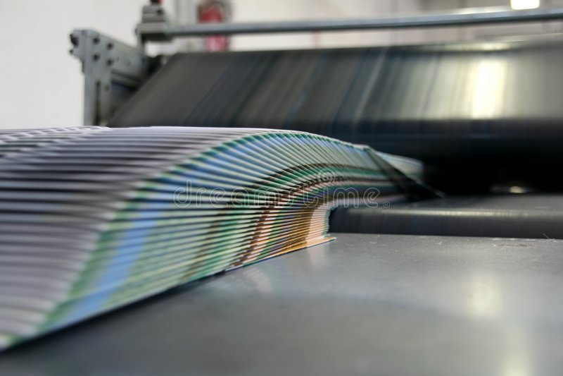 De werkende machine van Af:drukken royalty-vrije illustratie
