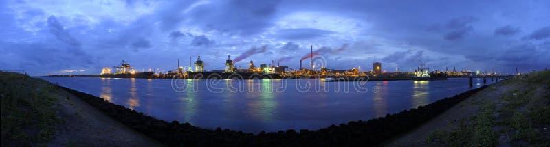 De werkenhorizon van het staal stock afbeeldingen