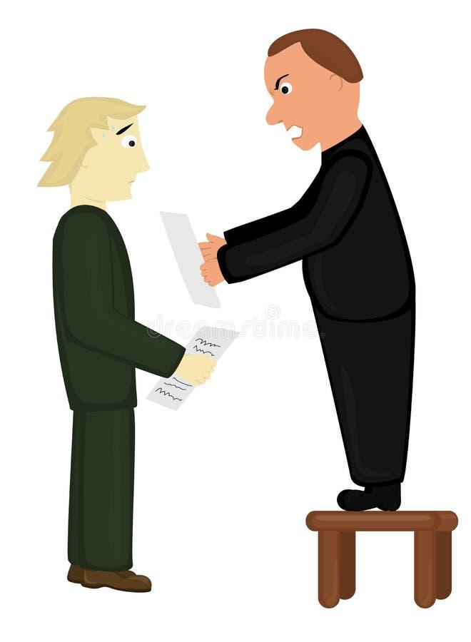 De werkgever is boos royalty-vrije illustratie