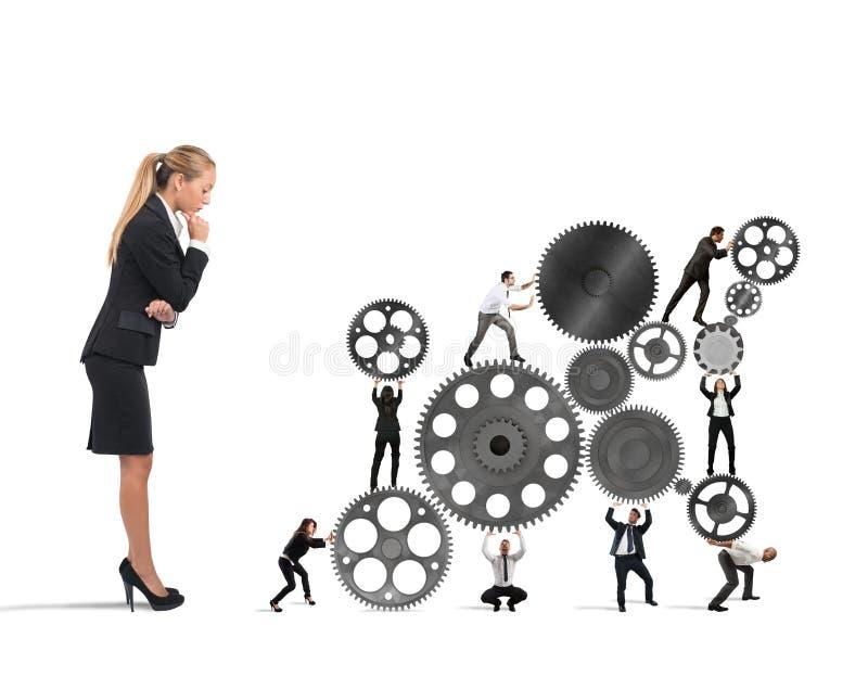 De werkgever bouwt een commercieel team royalty-vrije stock foto
