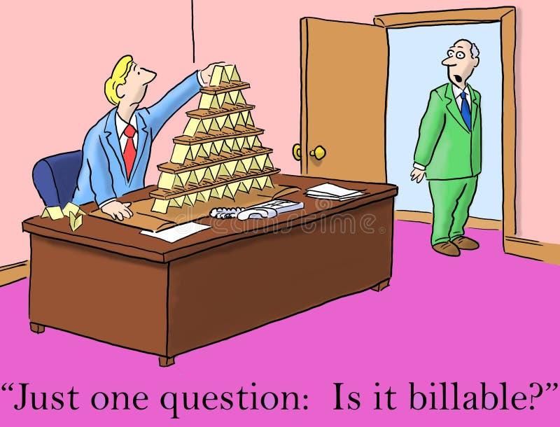 De werkgever stelt enkel één vraag, is factureerbaar het stock illustratie