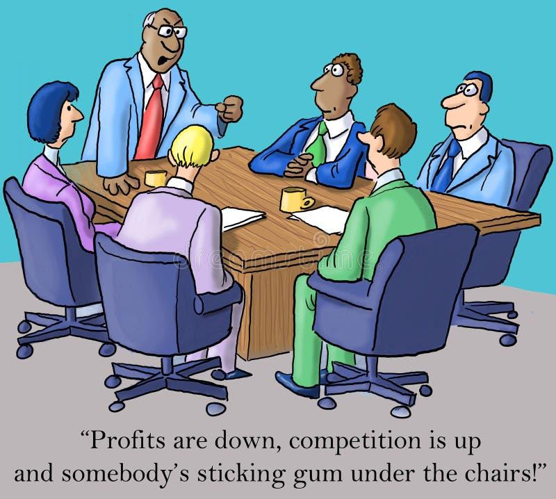 De werkgever wordt gemaakt over winsten en gom royalty-vrije illustratie