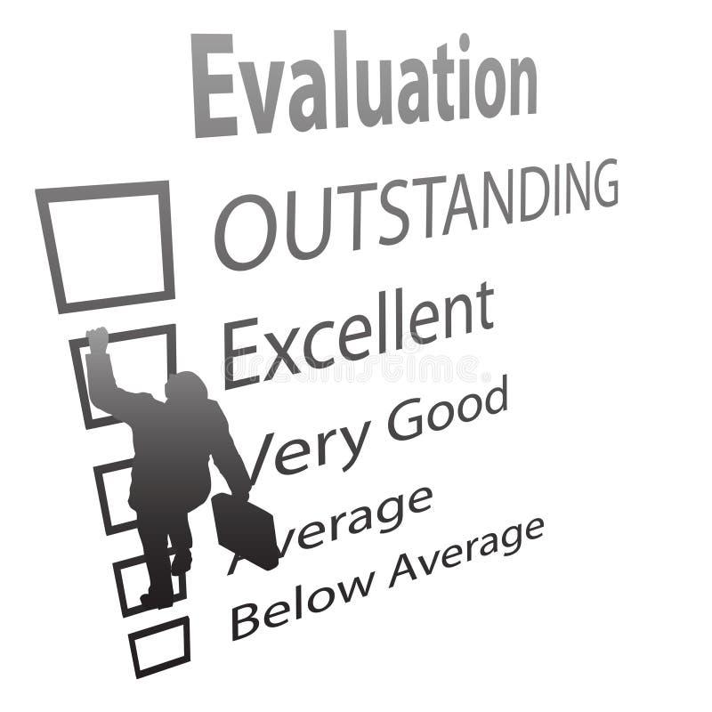 De werknemer beklimt op de Vorm van de Verbetering van de Evaluatie vector illustratie