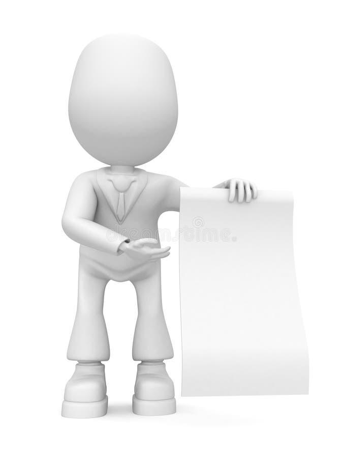 De werknemer toont document vector illustratie
