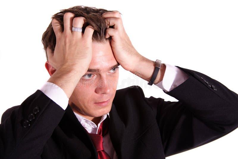 De werknemer van de paniek stock fotografie
