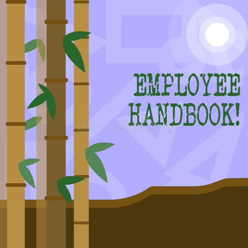 De Werknemershandboek van de handschrifttekst Concept die Document Handverordeningen het Beleidscode betekenen van de Regelshandl vector illustratie
