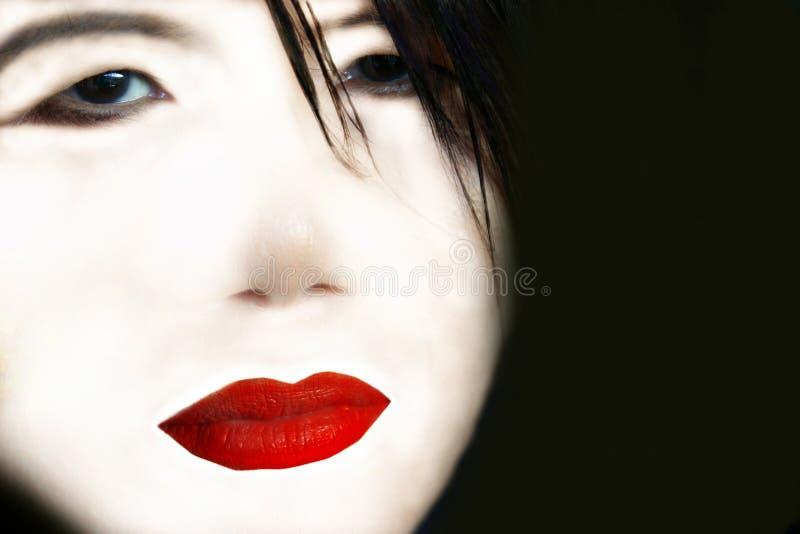 De werktijd van de geisha stock foto's