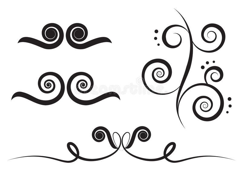 De werveling van de kunst vector illustratie