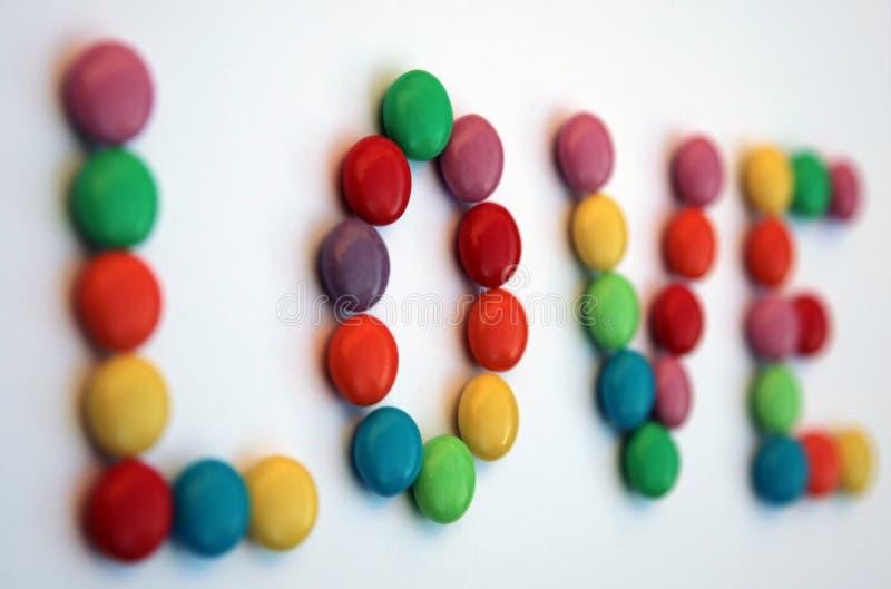 De werveling van het suikergoed - liefde royalty-vrije stock afbeelding