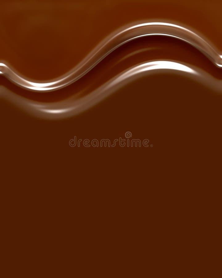 De Wervelingen van de chocolade vector illustratie