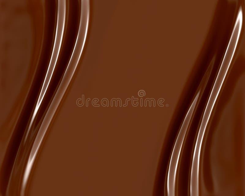 De Wervelingen van de chocolade stock illustratie