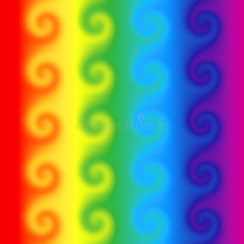 De wervelingen van de regenboog stock illustratie