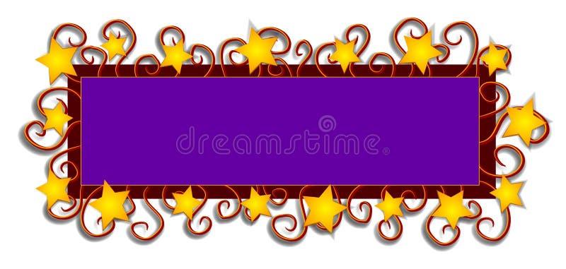 De Wervelingen van de Sterren van het Embleem van de Web-pagina royalty-vrije illustratie