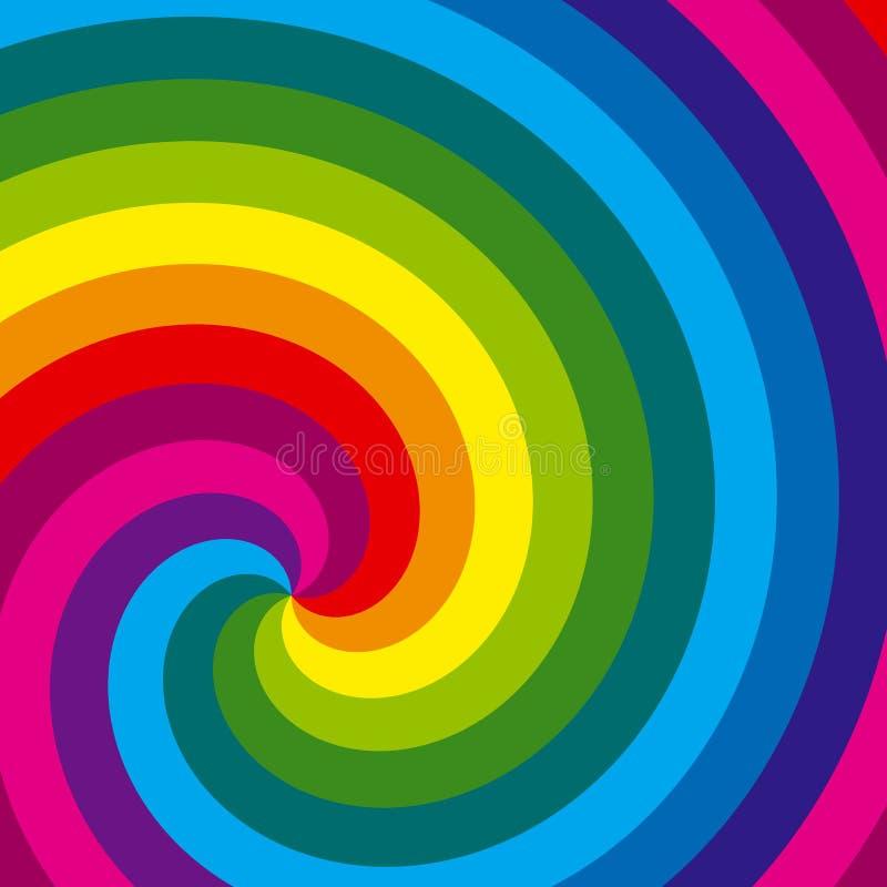 De wervelingsachtergrond van de regenboog. Vector. vector illustratie