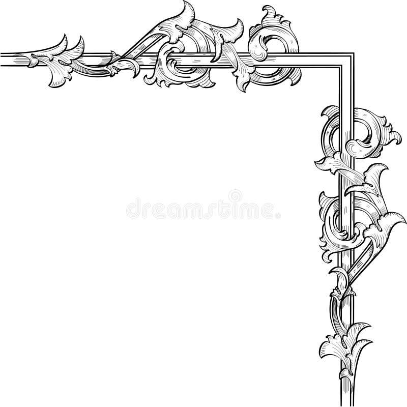 De wervelingshoek van Acunthus stock illustratie