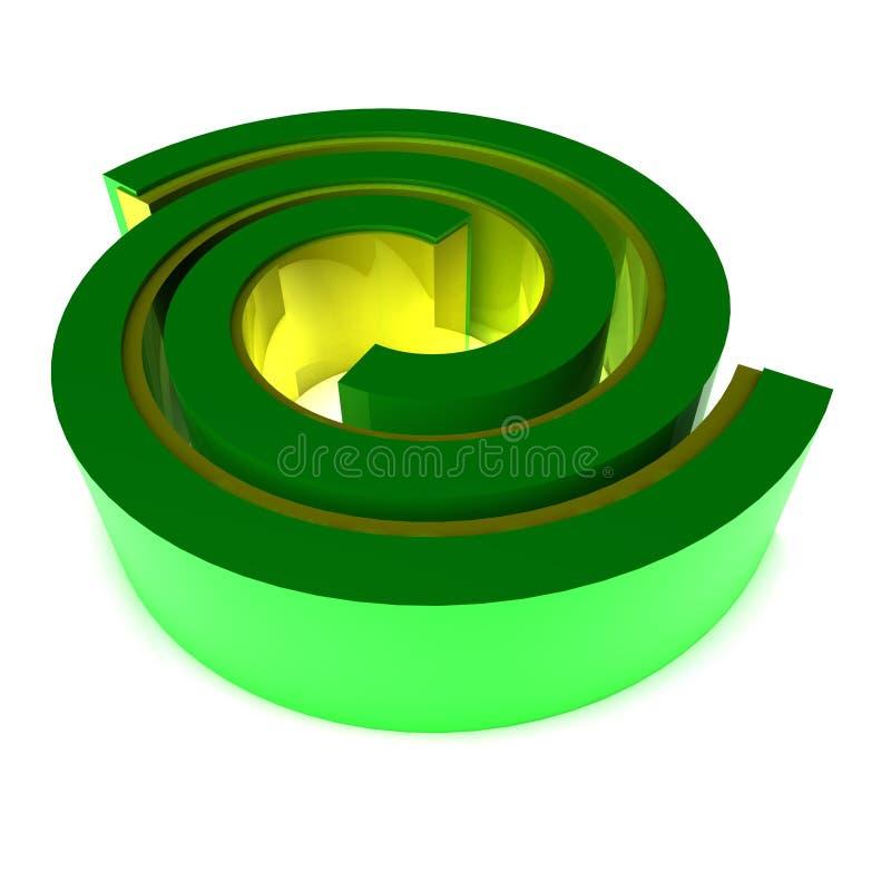 De wervelingspictogram van het embleem vector illustratie