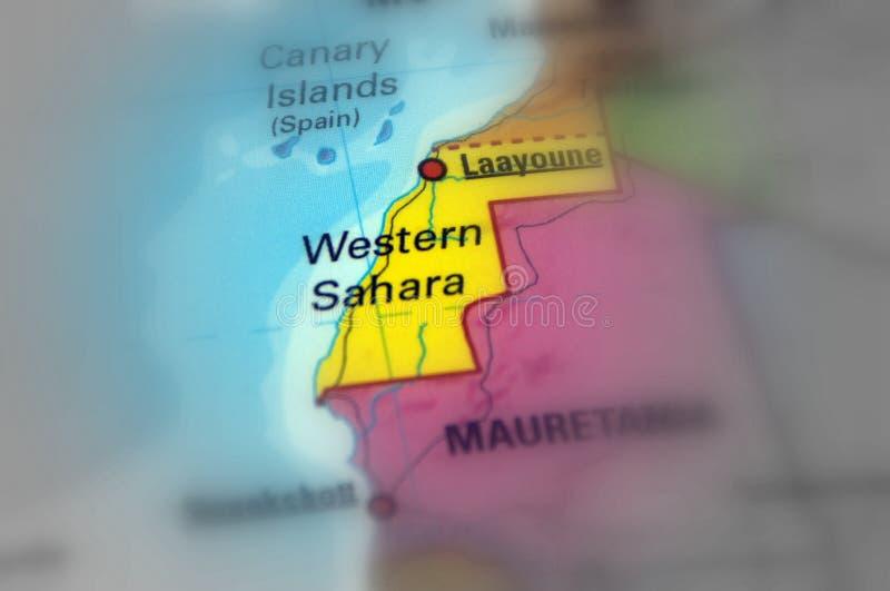 De westelijk Sahara - Afrika stock foto