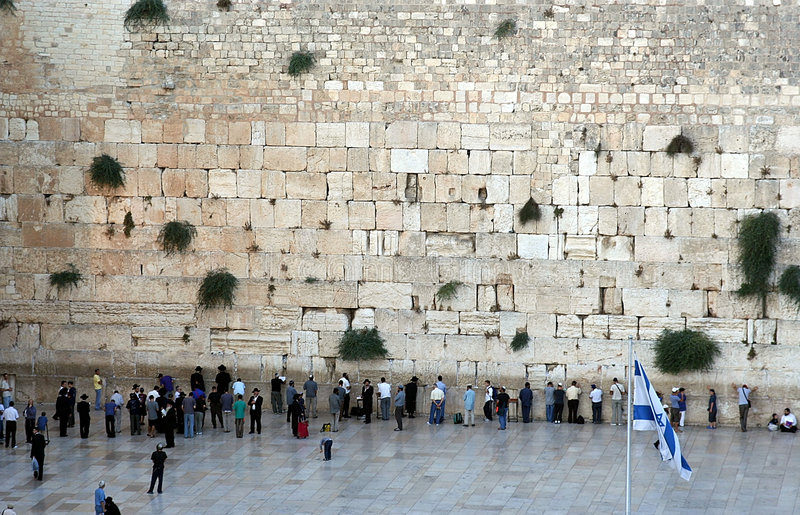 De westelijke Muur stock afbeeldingen