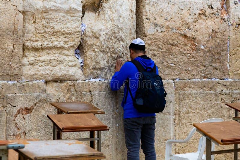 De Westelijke Muur van Jeruzalem - Loeiende Muur royalty-vrije stock foto