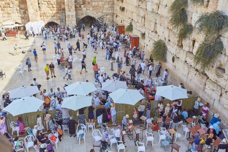 De westelijke muur van de tempel van Jeruzalem royalty-vrije stock afbeeldingen