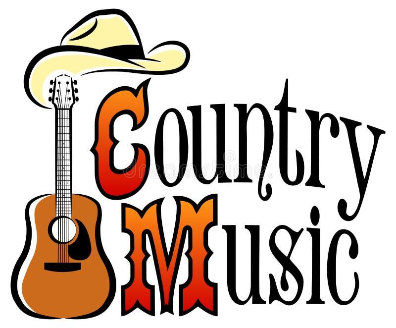 De Westelijke Muziek van het land stock illustratie